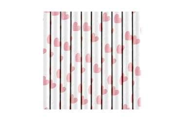 10 Pailles - Cœur rose clair