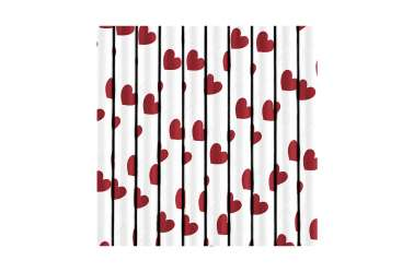 10 Pailles - Cœur rouge