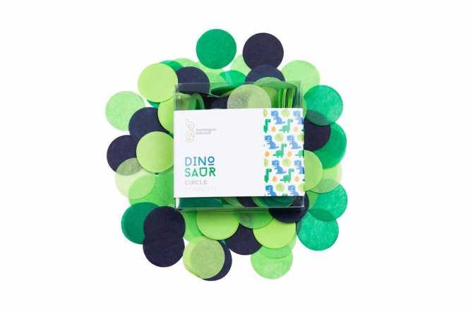 Confettis nuances vert et bleu