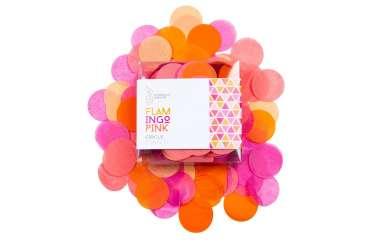 Confettis nuances orange, rose et corail