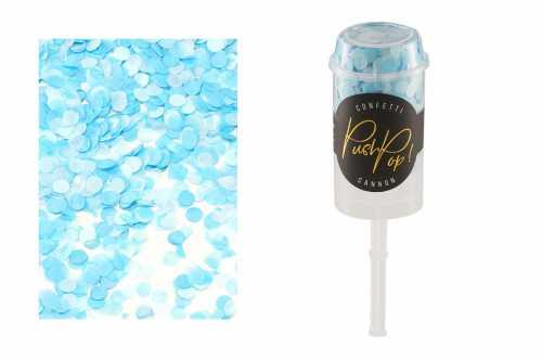 Lanceur de confettis nuance bleu
