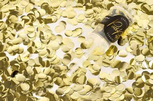 Lanceur de confettis nuance doré