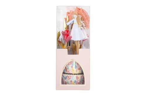 Kit de 24 cupcakes et toppers - Princesse magique
