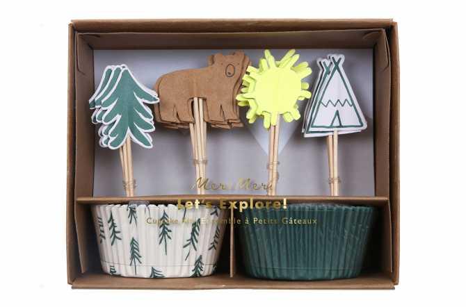 Kit de 24 cupcakes et toppers - Aventurier