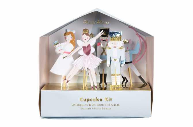 Kit de 24 cupcakes et toppers - Casse-Noisette