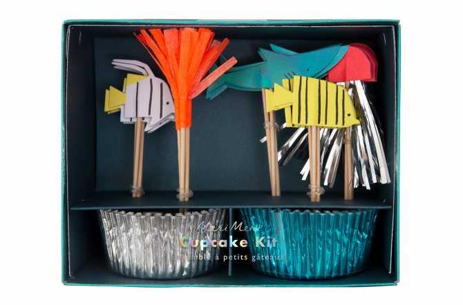 Kit de 24 cupcakes et toppers - Sous la Mer