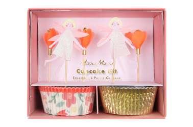Kit caissettes et toppers pour 24 cupcakes - Fée