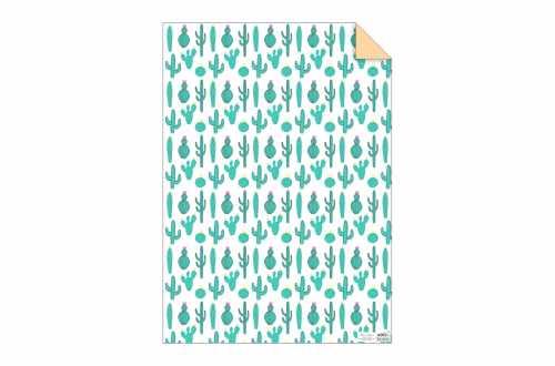 Rouleau de 3 feuilles de papier cadeau - Cactus