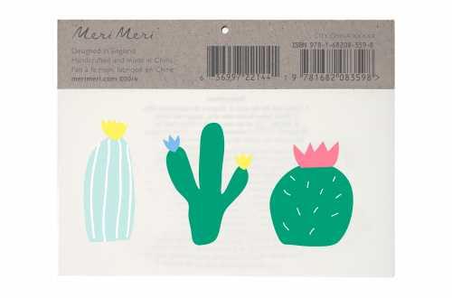 6 Tatouages temporaires - Cactus