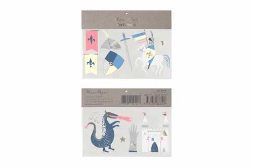 Tatouages temporaires - Chevalier et Dragon