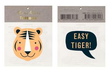 Tatouages temporaires - Tigre de la Jungle