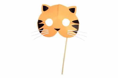8 Masques de déguisements d'animaux – Tigre