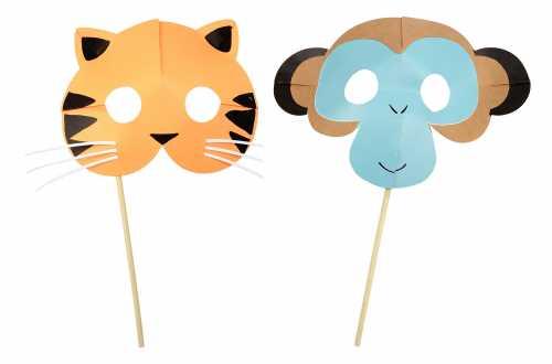 8 Masques de déguisements d'animaux – Jungle