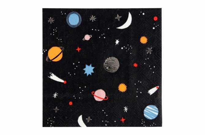 16 Petites serviettes - Astronaute