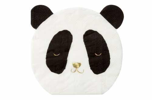 16 Petites serviettes - Panda