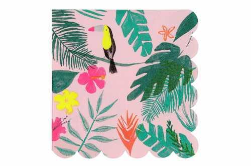 20 Serviettes tropical