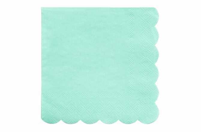 20 Petites serviettes bleu pastel