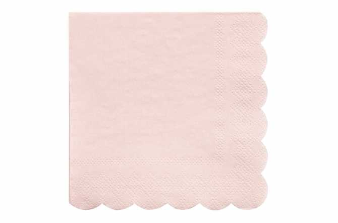 20 Petites serviettes rose pastel