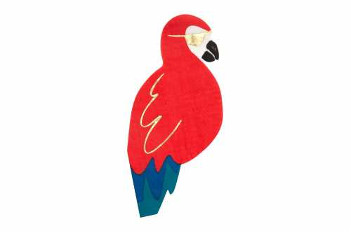 16 serviettes perroquet - Pirate