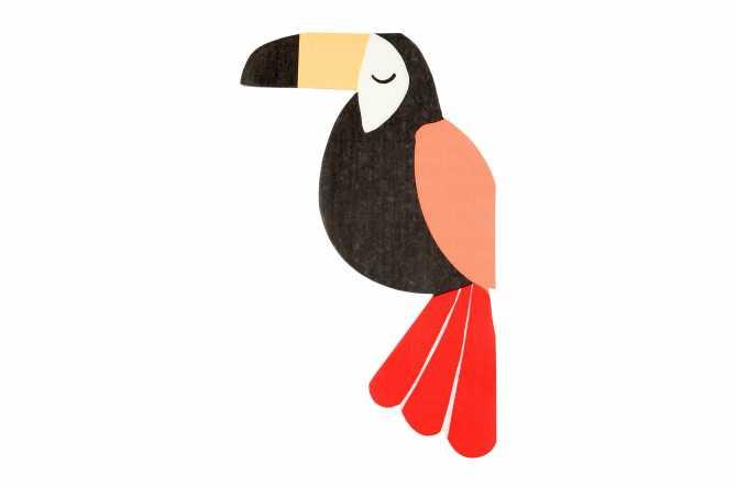 20 Serviettes toucan - Jungle