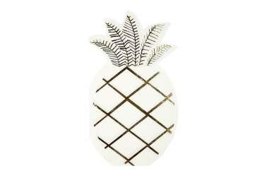 16 Serviettes Ananas doré