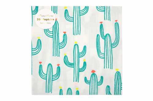 20 Grandes serviettes - Cactus