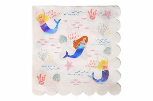 16 Grandes serviettes - Sirène