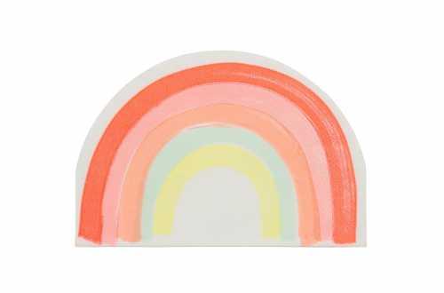 20 Grandes serviettes pastels - Arc-en-ciel