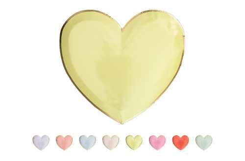 8 Petites assiettes - Cœurs Pastels