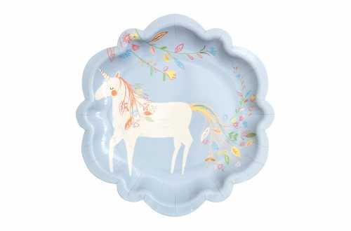 8 petites assiettes Princesse Magique