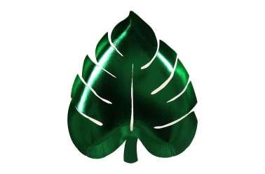 8 Assiettes en feuilles de palmiers - vert