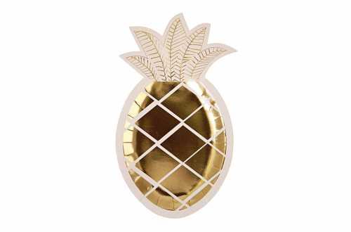 8 assiettes - Ananas doré