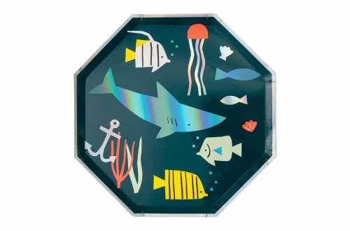 8 Grandes assiettes - Sous la Mer