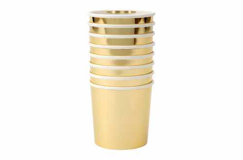 8 Petits gobelets doré