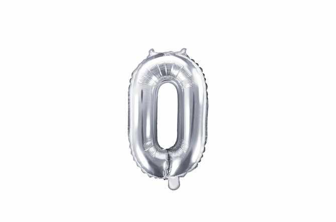 1 Petit ballon chiffre argenté - 35 cm