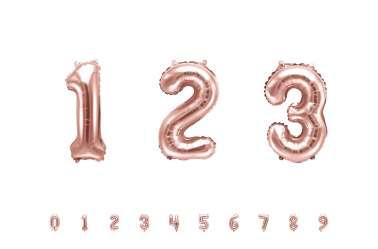 1 Petit ballon chiffre rose - 35 cm