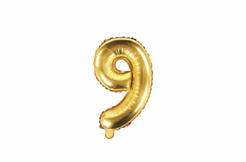 1 Petit ballon chiffre doré - 35 cm