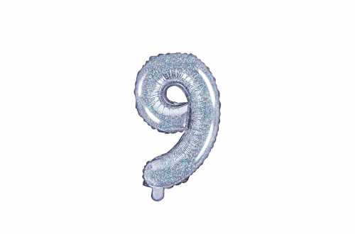 1 Petit ballon chiffre holographique - 35 cm