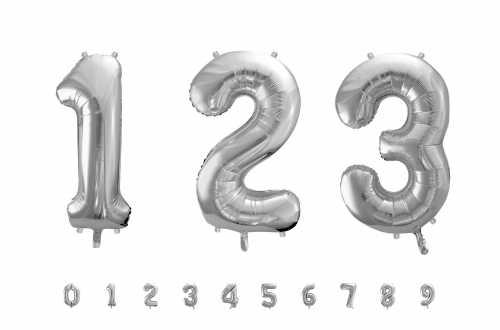 1 Grand ballon chiffre argenté - 86 cm