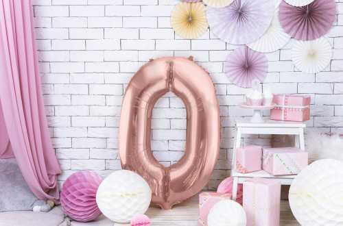 1 Grand ballon chiffre rose - 86 cm