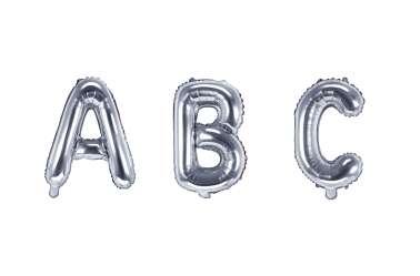 1 Petit ballon lettre argenté - 35 cm