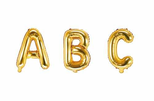 1 Petit ballon lettre doré - 35 cm