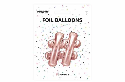 1 Petit ballon hashtag rose - 35 cm