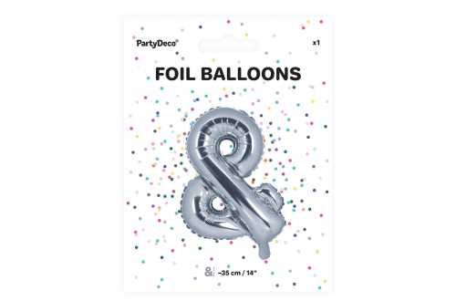 1 Petit ballon & argenté - 35 cm