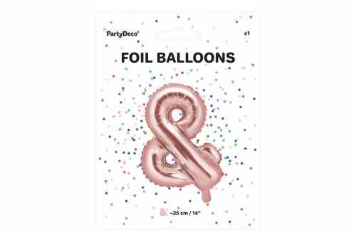 1 Petit ballon & rose - 35 cm