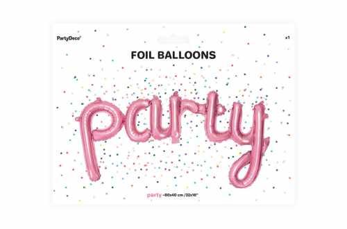 Ballon party rose - 80 x 40 cm
