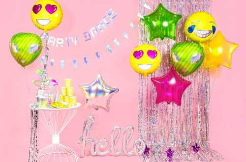 Ballon hello holographique - 72 x 45 cm