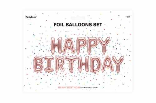 Ballon HAPPY BIRTHDAY rose - 340 x 35 cm