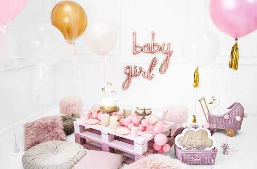 Ballon girl rose - 77 x 70 cm