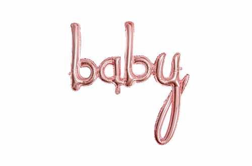 Ballon baby rose - 73,5 x 75,5 cm